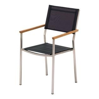 vigo stacking chair with arms gloster furniture for the home rh pinterest com