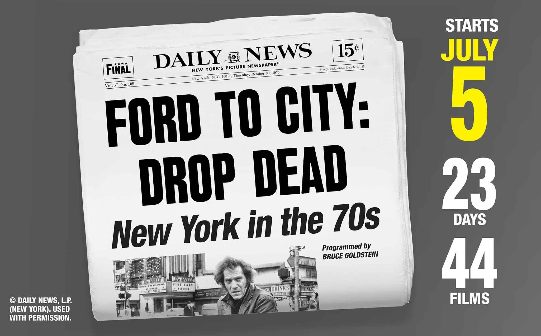Film Forum Ford To City Drop Dead Lt Br X2f Gt New York