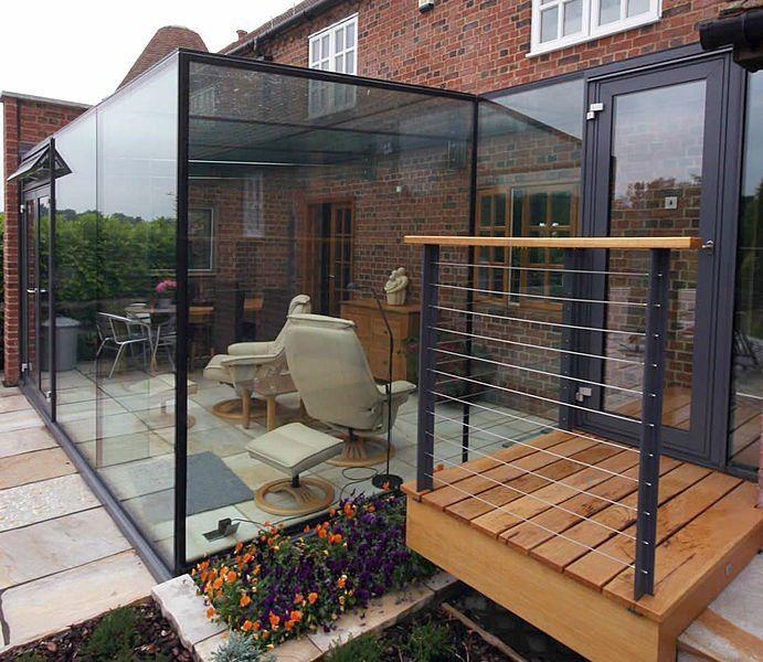 baie vitr e pour la terrasse fermez la terrasse et ouvrez l 39 esprit dans la cour veranda. Black Bedroom Furniture Sets. Home Design Ideas
