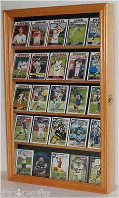 Baseball Card Display Case Shadow Box Cabinet With Glass Door CC01 OA