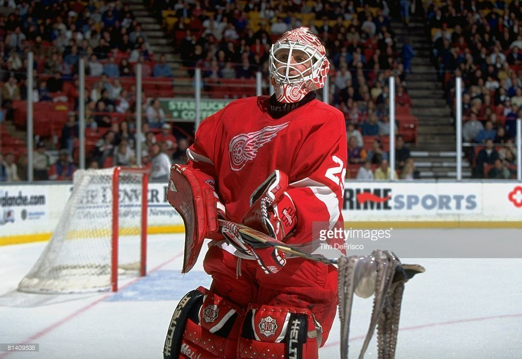 Hockey Detroit Red Wings Goalie Mike Vernon In Action Making Save Vs Picture Id81409538 1024 705 Detroit Red Wings Red Wings Goalie