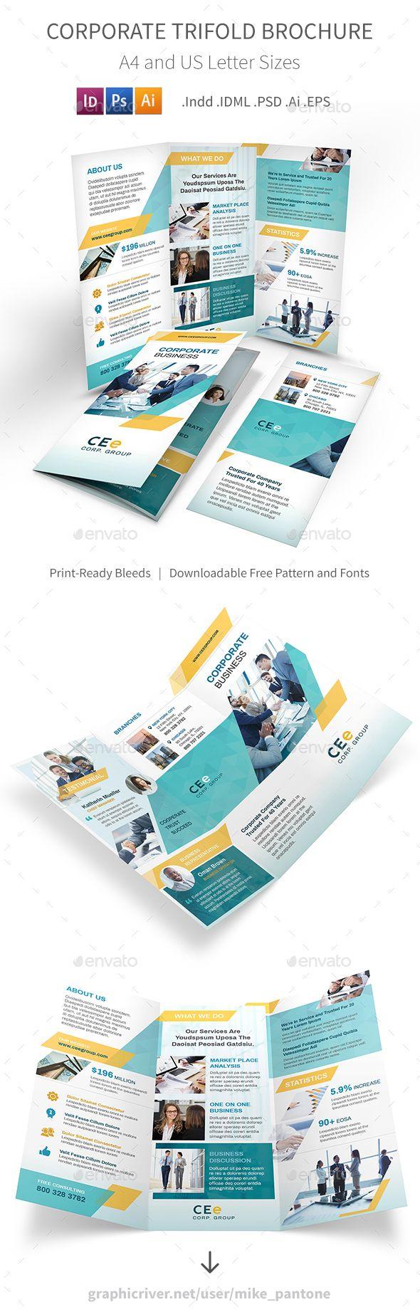 Corporate Business Trifold Brochure 5 Corporate Business Brochure