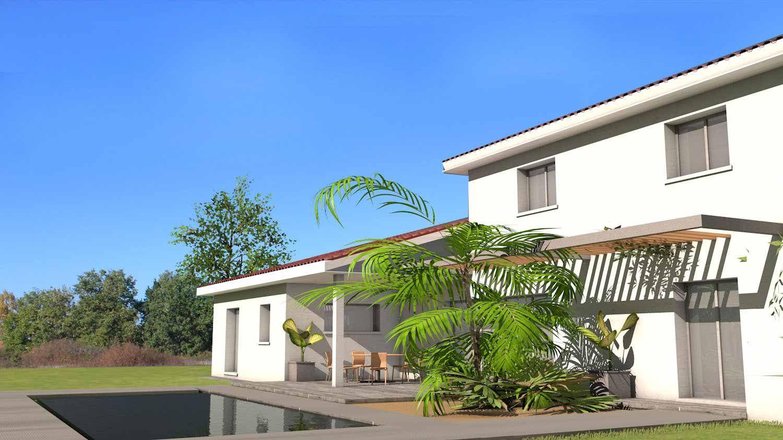 Maison d\'architecte contemporaine à tuiles noires et grande terrasse ...