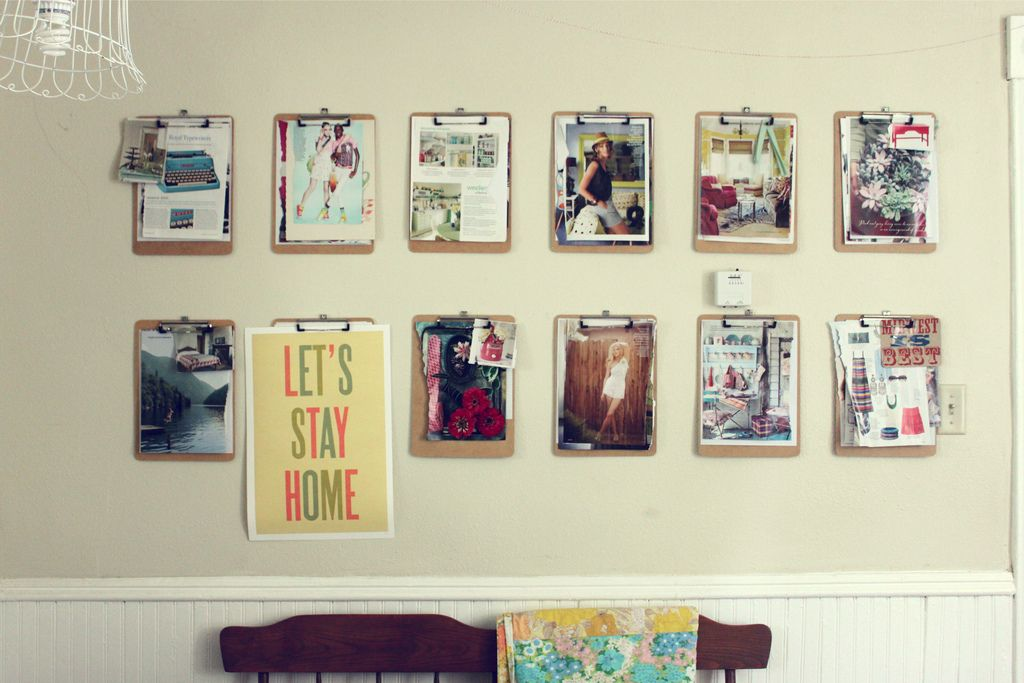 Clipboard Picture Frames June Inspiration Wall