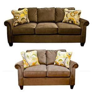 Sensational La Z Boy Traditional Brown Microfiber Sofa And Loveseat La Ibusinesslaw Wood Chair Design Ideas Ibusinesslaworg