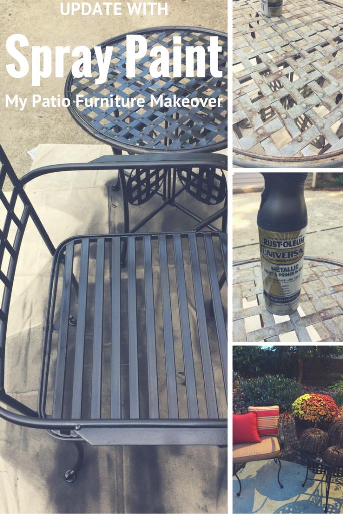 easy and cheap diy patio furniture update using spray paint garden rh ar pinterest com