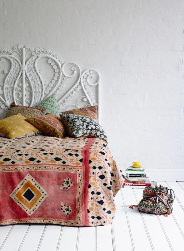 30 Ideen für Bett Kopfteil - märchenhafte und kunstvolle Beispiele - kopfteil fur bett wanddeko schlafzimmer