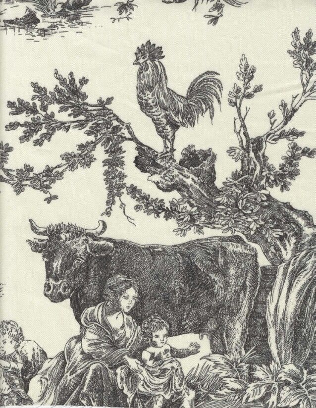 Will never, ever get tired of farm or gardenthemed toile
