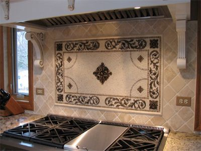 Decorative Tile Kitchen Backsplash Decorative Insert Backsplashlandmark Metalcoat On