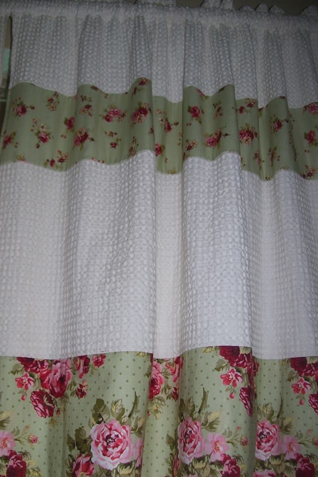 curtain pattern shabby chic curtains i made for my sewing room u003c3 rh pinterest com