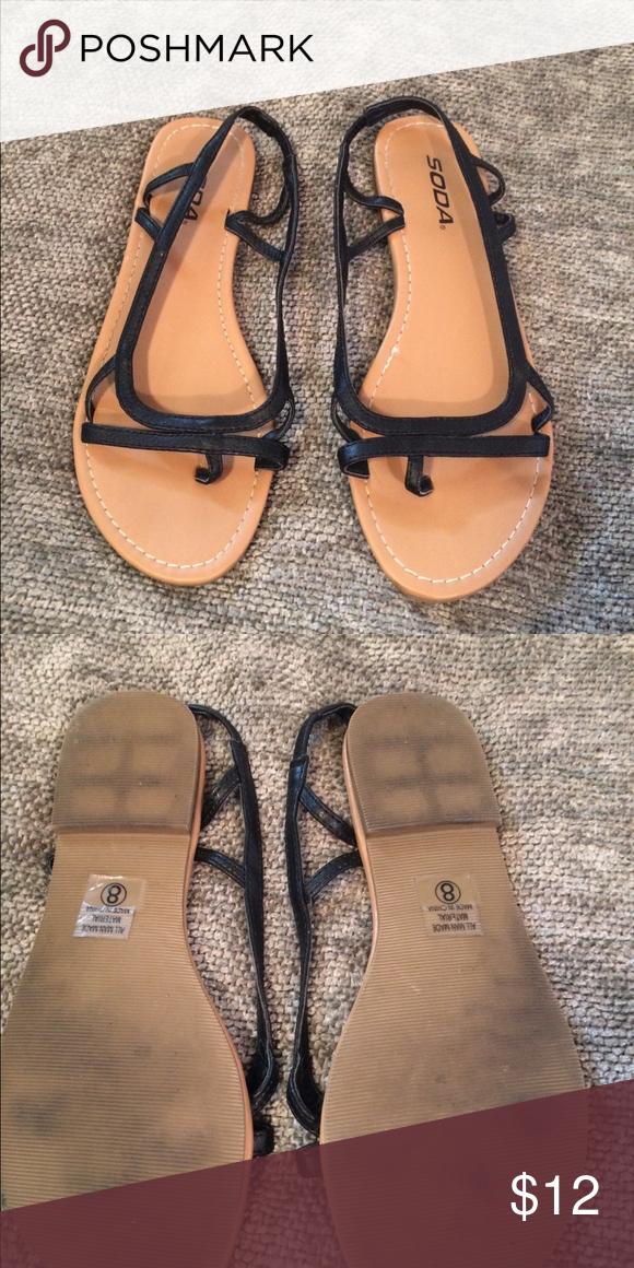 69eb93d50e670 Size 8 black soda sandals