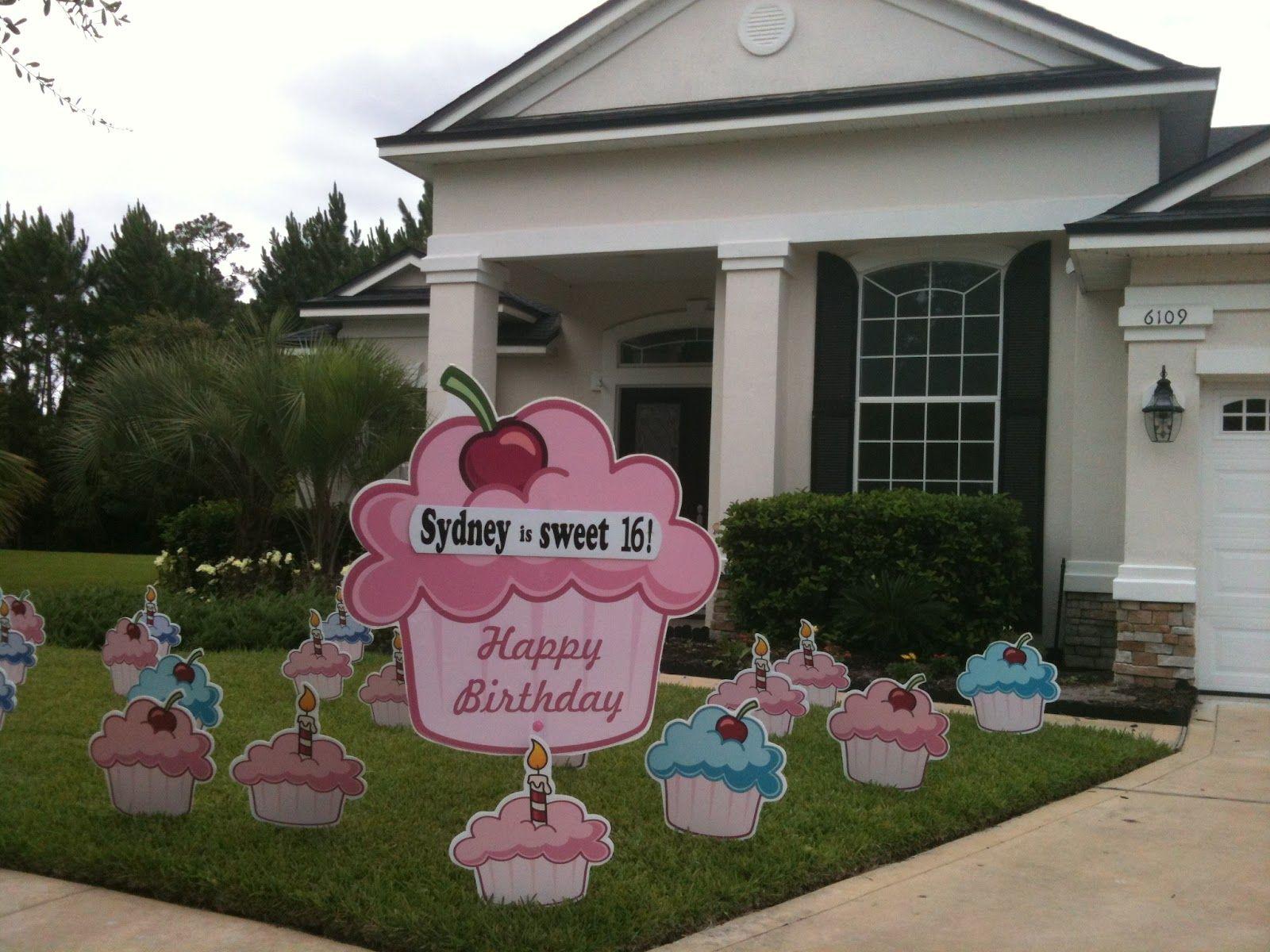 Cupcakes Birthday Yard Cards