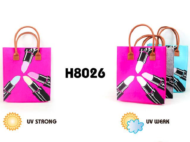 Uv Color Changing Felt Shopping Bag With Images Felt Bag Shopping Bag Bags
