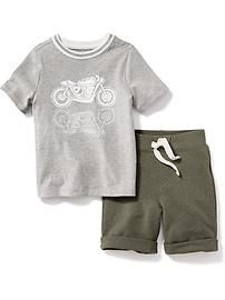 2-Piece Graphic Tee Set for Baby