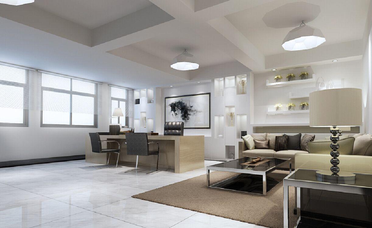 Minimalist CEO office ceiling light design Interior