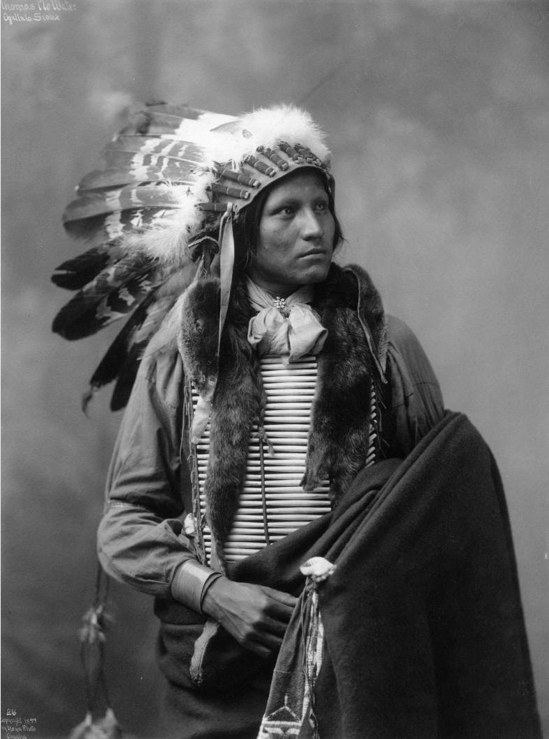 Thomas No Water, Native American Oglala Sioux Man, Lakota -3324
