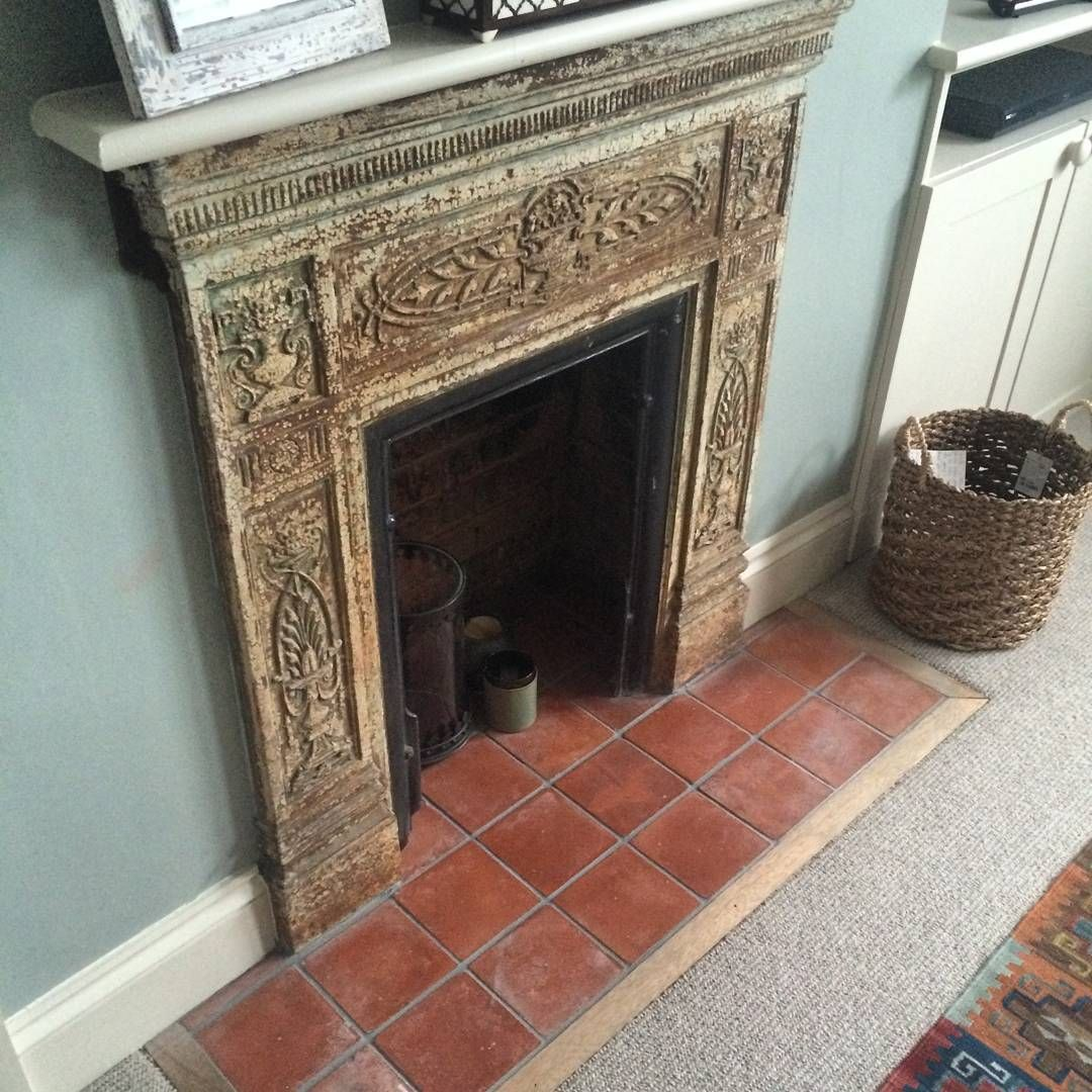 fireplace as it was we ll remove the metal surround to stop heat rh pinterest co uk