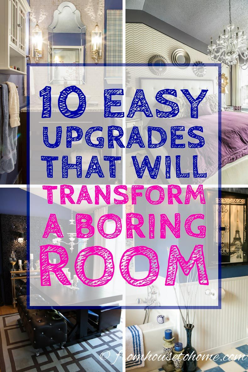 These ways to upgrade a boring room