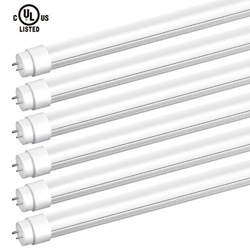 Sgl 6pack T8 Led Shop Light Tube 48w Equivalent 4ft Singleended Power 5000k Daylight White Frosted Cover G13 Ligh Led Shop Lights Fluorescent Tube Light T8 Led