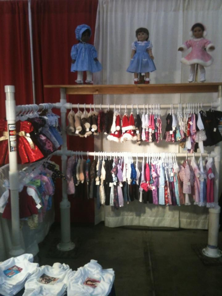 How To Display Doll Clothes At Craft Show