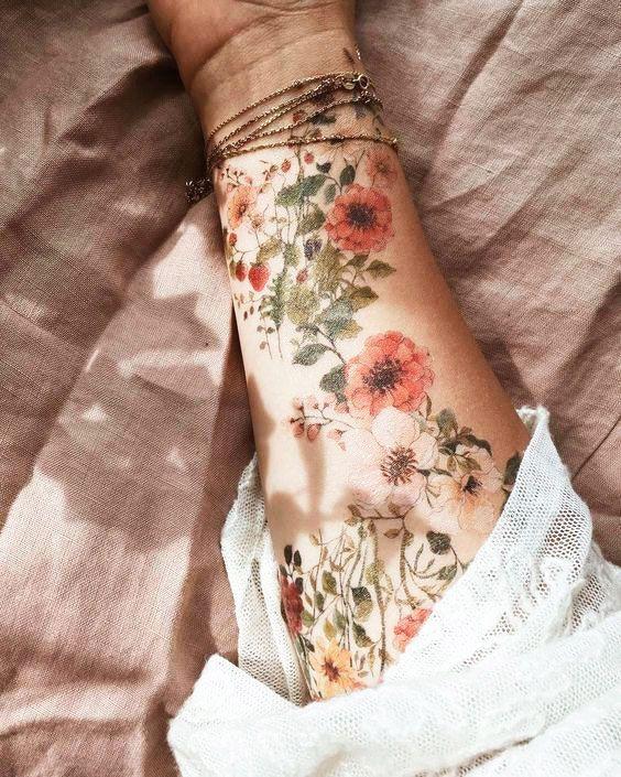 41 Best Small Flower Tattoos For Women -   18 beauty Flowers tattoo ideas