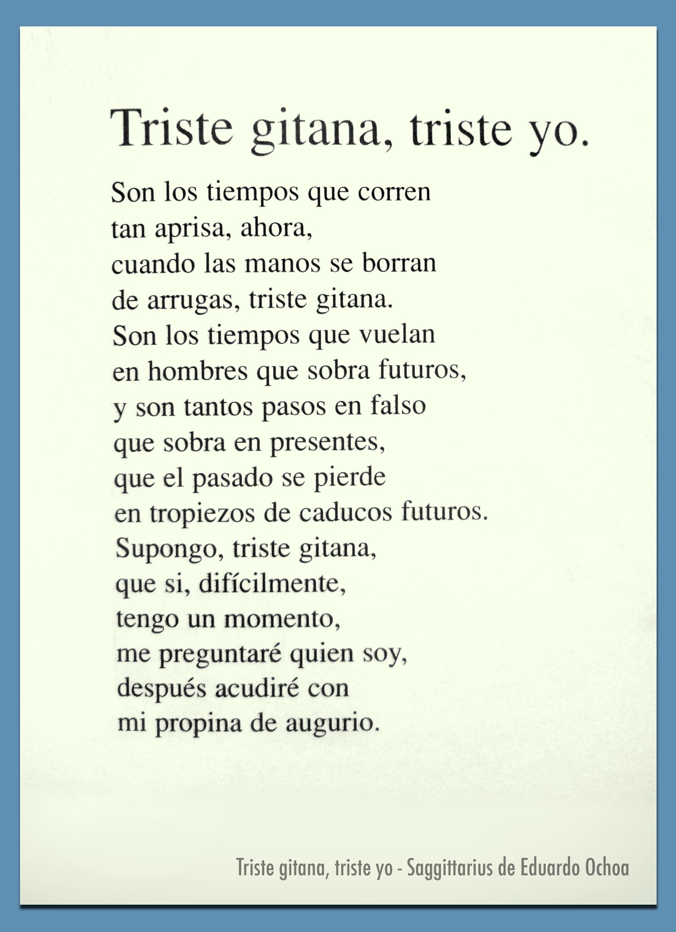 Triste Gitana Triste Yo Saggittarius De Eduardo Ochoa