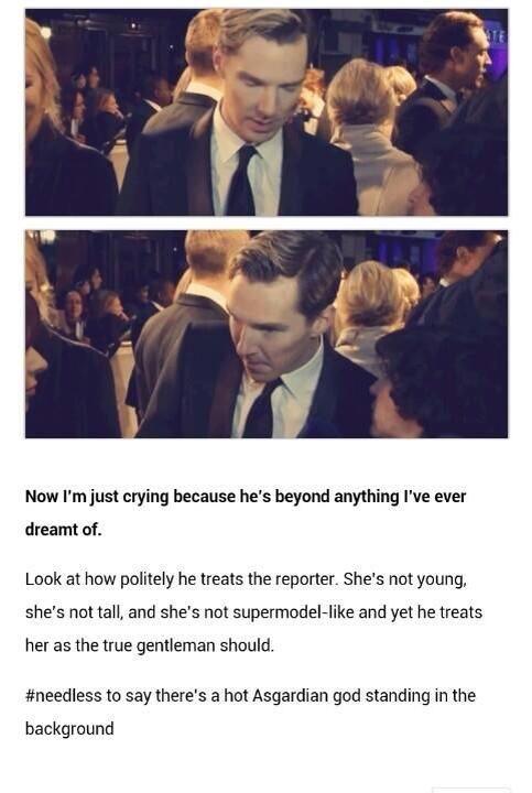Oh, hi Loki!...Cumberbatch and Hiddleston in one pic...sigh