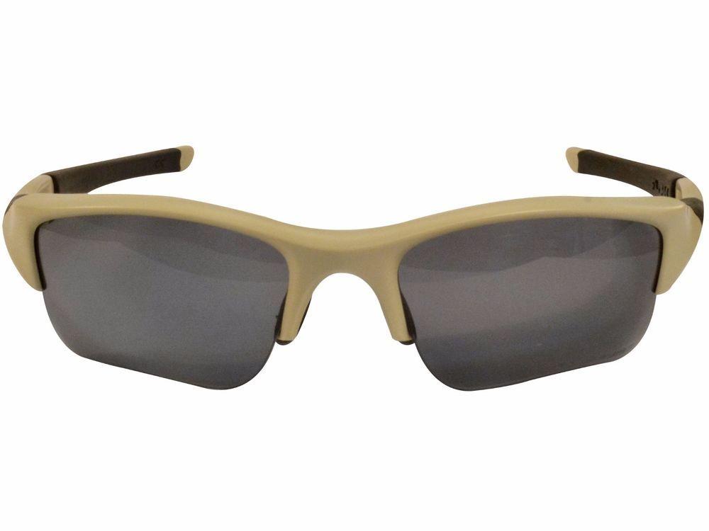 f6651a01a2 ... norway oakley flak jacket xlj polarized sunglasses grey lens bone frame  black ear socks 07688 7c12f