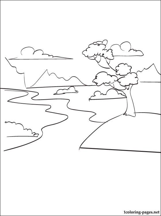River Coloring Page Coloring Pages Summer Coloring Pages