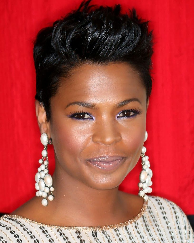 nia long short hairstyles black women - see more stunning