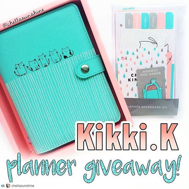 #chellasunshinegiveaway  RepostPlus @chellasunshine with @RepostPlus ... GIVEAWAY TIME! Hey y'all happy Friday the 13th! I am giving away one Kikki.k Vanskap Medium Planner with the matching Dashboard Kit full of cute accessories for your planner! I have a video on my youtube channel (chellasunshine) showing you what these products feature. I really like this planner a lot but I intended on giving it away so I have to follow through hahahaa . I didn't think I would like it so much!  Here's…