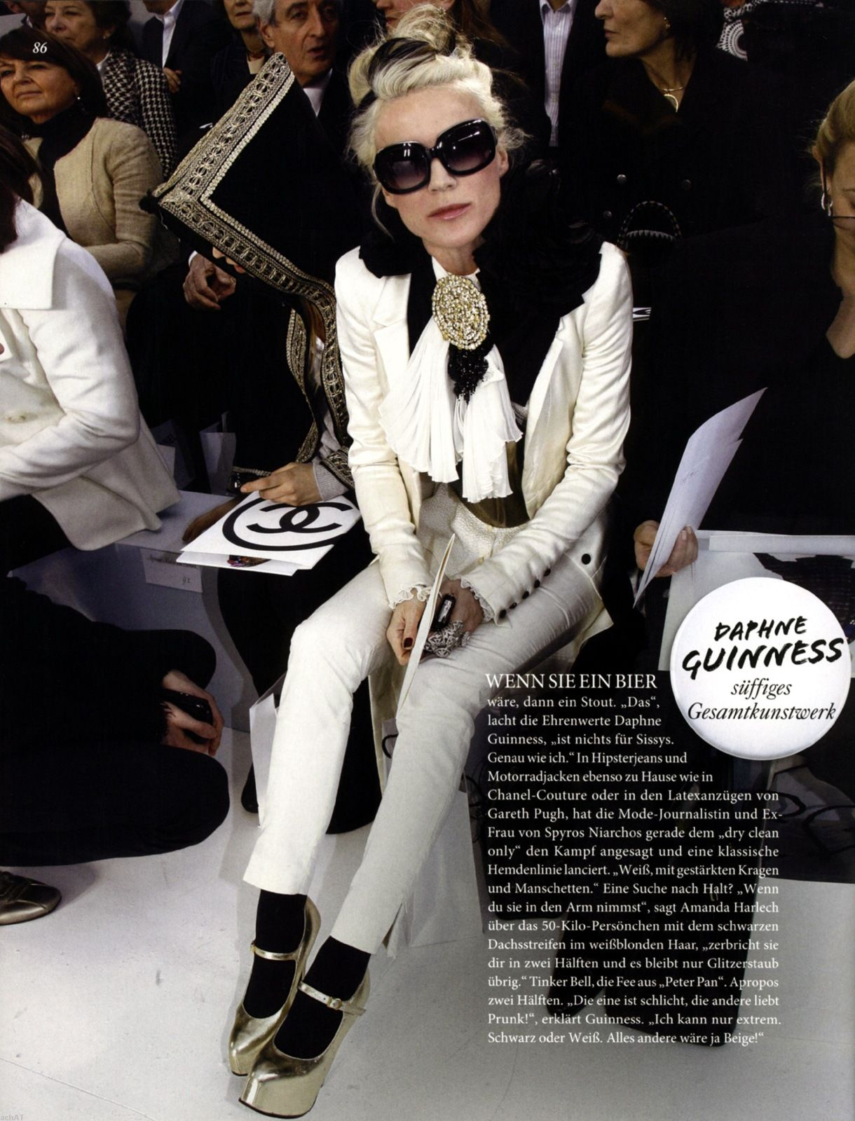 know that Daphne Guinness the best dressed bitch where ever she is.