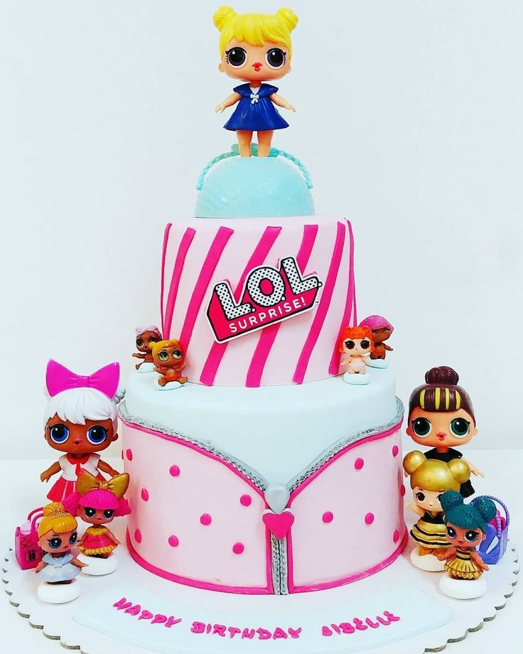 Good morning guys this our lol surprises cake