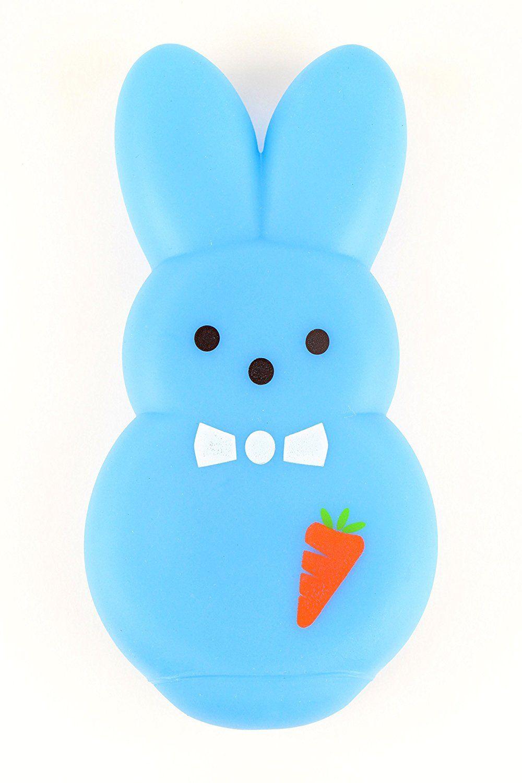 Pet Supplies Peeps Vinyl Dress Bunny Dog Toy Medium Blue