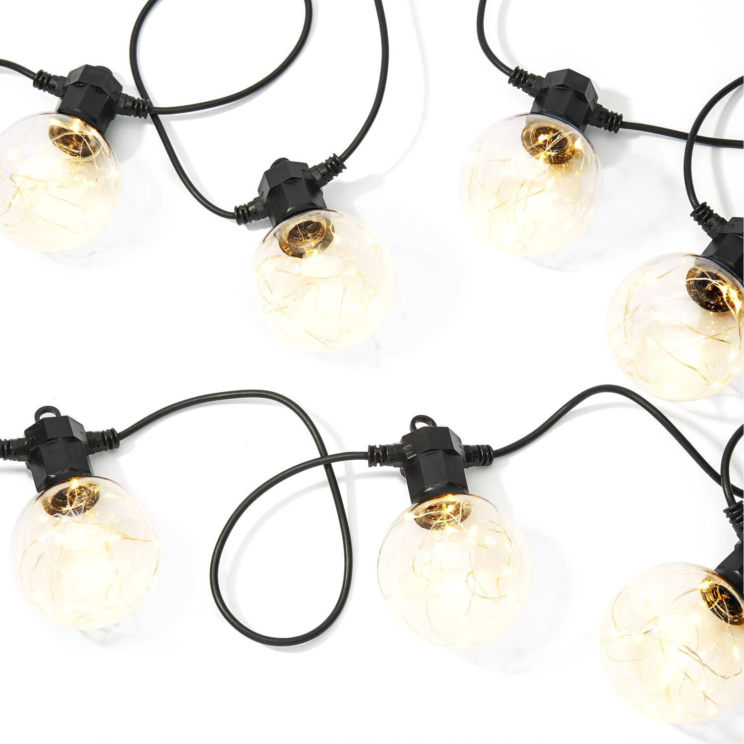 Celestial Globe String Lights with Silver Wire LEDs, Strand of 10 ...
