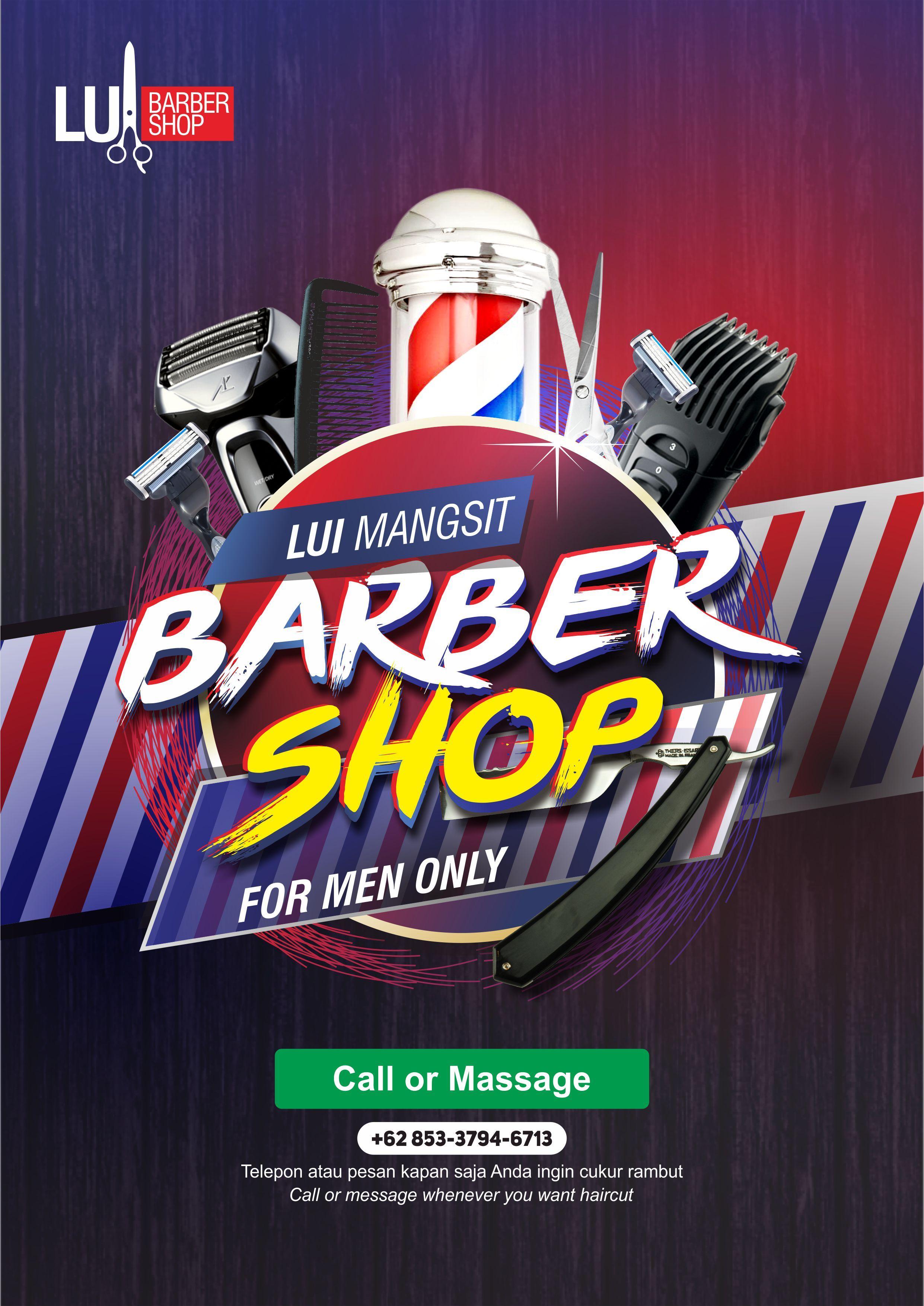 Barbershop Poster Design Spanduk Poster Brosur