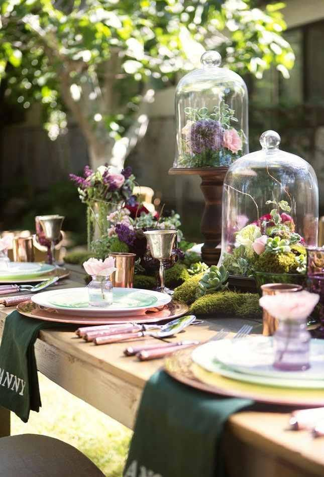 Garden Party Table Setting Wedding Tablescapes Table Decorations Table Settings