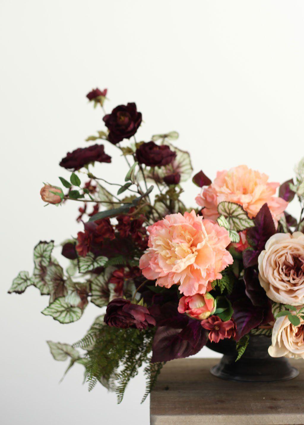 diy silk flower arrangement in 2019 diy wedding diy silk flower rh pinterest com