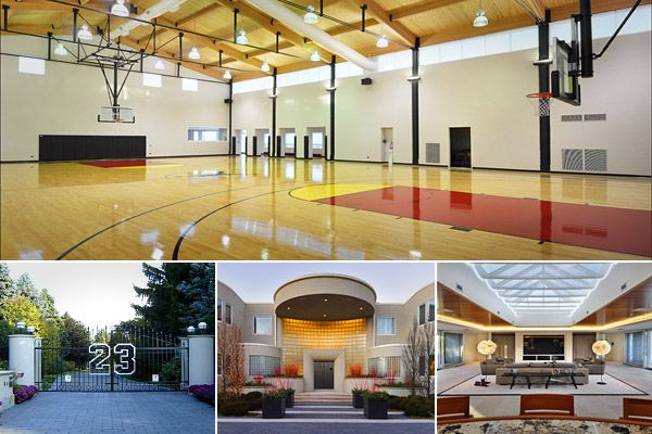 Extravagant Home Features Of The One Percent Extravagant Homes Indoor Basketball Court Home Basketball Court