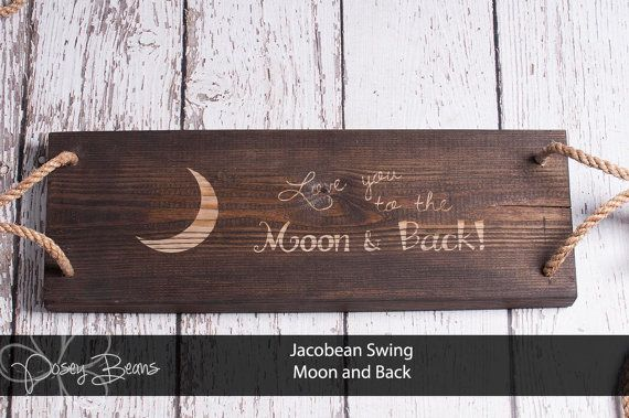 Tree Swing Moon and Back engraving Jacobean or by PoseyBeans