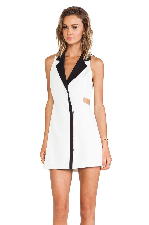 Lovers Friends Tuxedo Dress In White Black Revolve Tuxedo Dress Dresses White Tuxedo [ 1450 x 960 Pixel ]