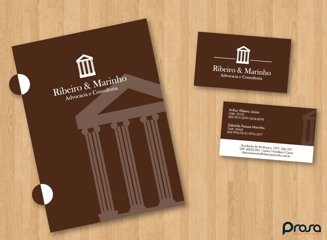 Logo e Papelaria desenvolvidos para a Ribeiro e Marinho.