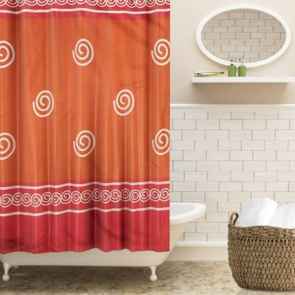 orange floral shower curtain. FreeLance Floral Shower Curtain Rust  Maroon Curtains FabFurnish