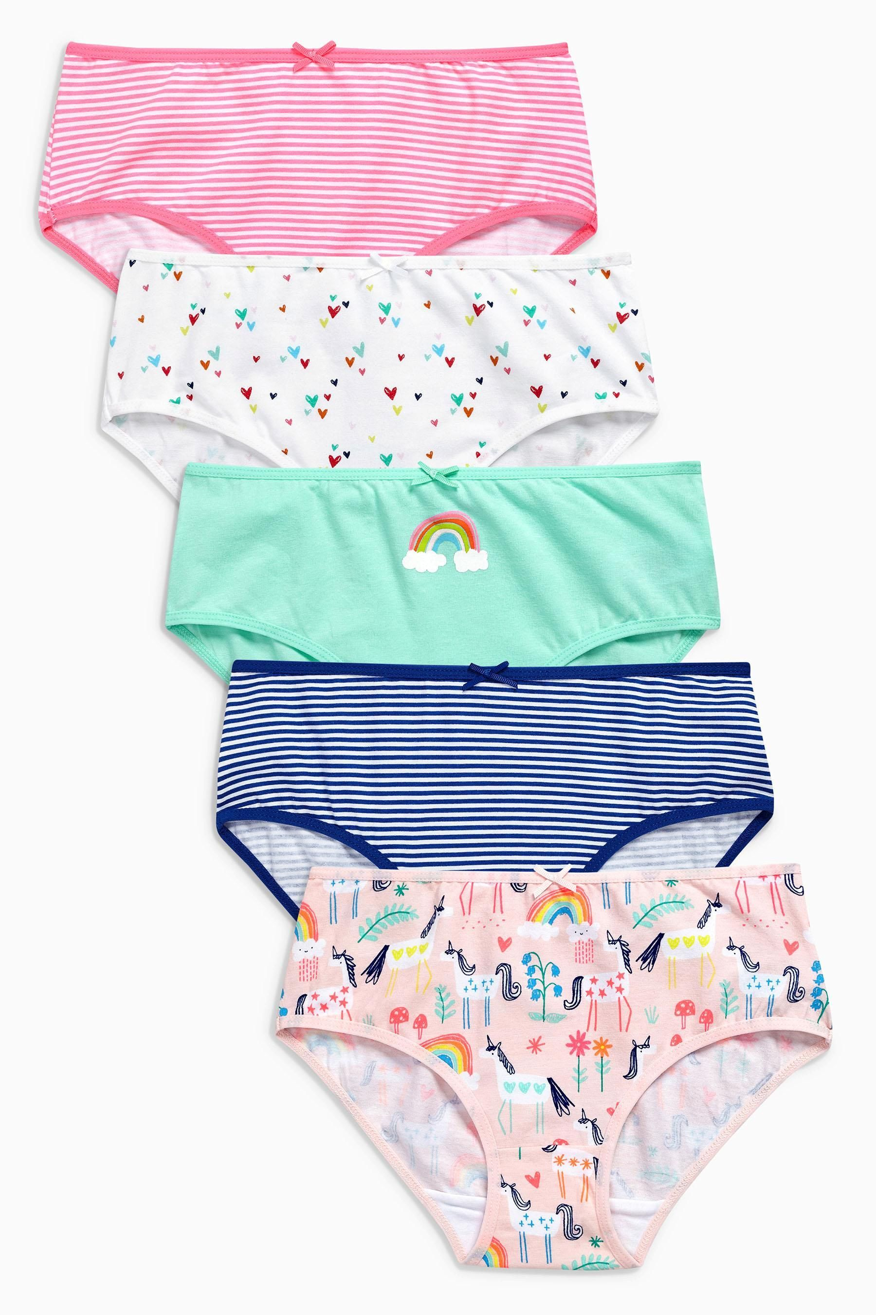 08bc75f29ae Buy Multi Bright Unicorn Briefs Five Pack (1.5-12yrs) from Next USA ...