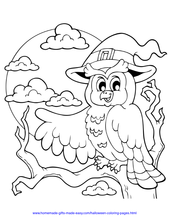 75 Halloween Coloring Pages Free Printables Owl Coloring Pages Halloween Coloring Pages Halloween Coloring
