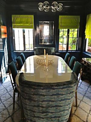 Hague Blue Dining Room Johnson Sokol Interior Design Dining