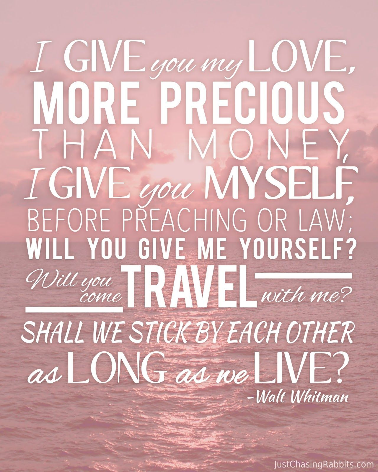 Walt Whitman Quotes Love: Love And Travel Walt Whitman Quote Printable Wall Art For