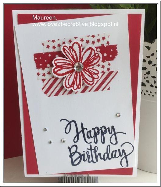 Stylized Birthday, Flower Shop, Candy Cane Lane Washi Tape, Stampin'Up!