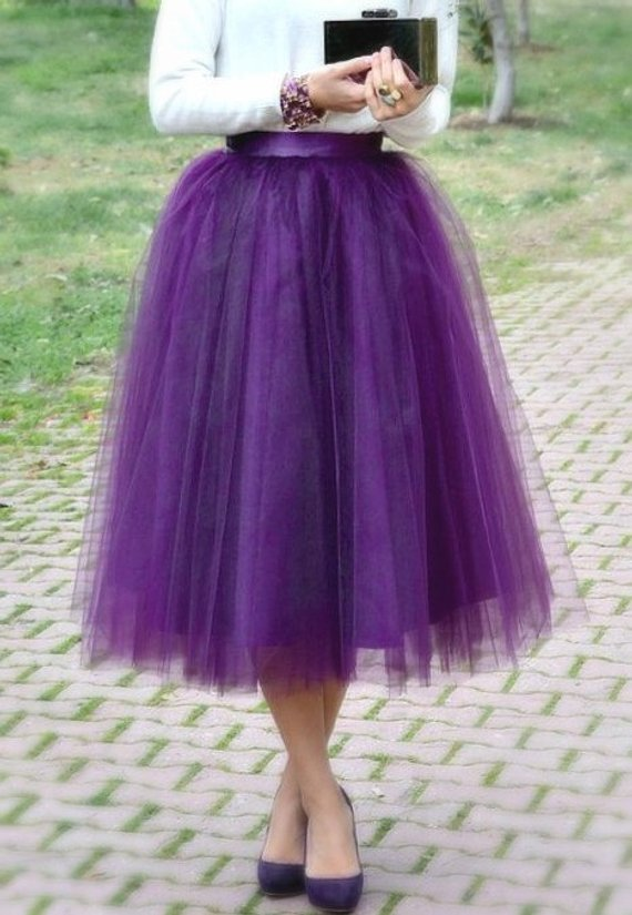 6264b9444 Purple Plum Tulle Tutu Skirt, Adult, Women in 2019   Products   Pink ...