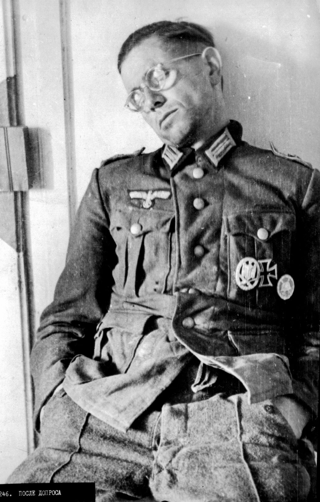 Russia Map After Ww2%0A This German officer POW sleeps sitting up after interrogation  Russian  photo  undated